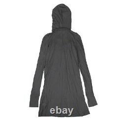 NWT CHROME HEARTS Gray Hooded Long Sleeves Swing Dress Size S