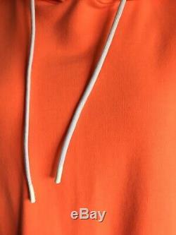 NWT Cotton Citizen Milan Sweatshirt Hoodie Backless Dress Orange Melon M