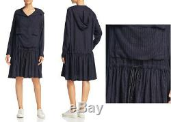 NWT DKNY pure hooded pinstripe dress size S