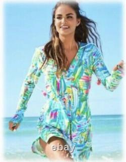 NWT Lilly Pulitzer Hooded RYLIE Dress UPF 50+ Sea Salt & Sun Swim Cover Up Sz S