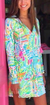 NWT Lilly Pulitzer Hooded Rylie Dress UPF 50+ Multi Sea Salt and Sun XXS, XS, S, L