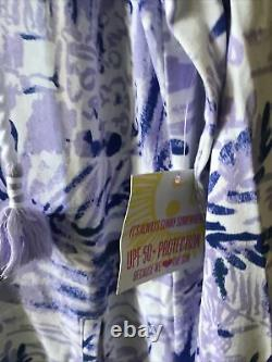 NWT Lilly Pulitzer Rylie Cover-up Dress Lilac Verben Rock The Dock L Free Ship