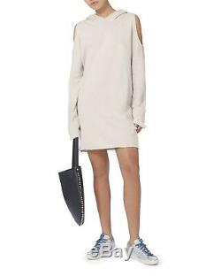 NWT RTA Joelle Hoodie Hooded Sweatshirt Dress Metallic Silver XS $328