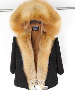 New Genuine Natural Vulpes Fur collar fur coat winter jacket coat hooded 2018