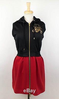 New MOSCHINO COUTURE X JEREMY SCOTT Sleeveless Front Zip Hooded Dress 6/40 $1195