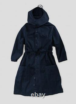 Nigel Cabourn USMC Long Sleeve Hooded Smock Dress in Black Navy Various Sizes