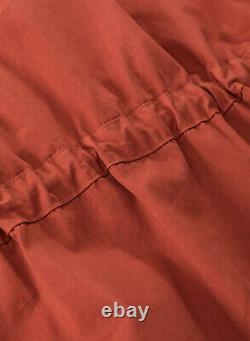 Nigel Cabourn USMC Long Sleeve Hooded Smock Dress in Orange Various Sizes