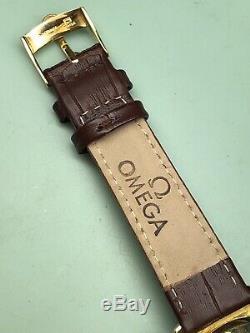 Omega Seamaster Ultima Vintage 18k Gold Hooded Lugs Cal. 505 Mens Dress Watch
