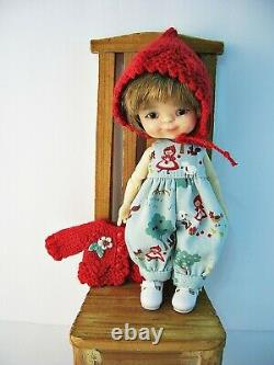 Outfit for Meadowdolls Twinkle 6.5, My Meadow, Red Riding Hood made by Ulla