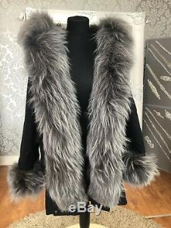 P1 real fox fur Vulpes lining Nyctereutes procyon raccoon FUR hood woman parka