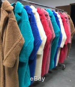 P4 teddy Bear Feel Oversized 100% Wool Long Coat 2019