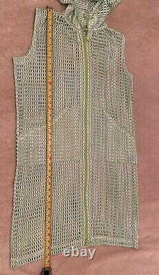 PLEATS PLEASE ISSEY MIYAKE 1 US S-XL dress with hoodie Light Green stretched