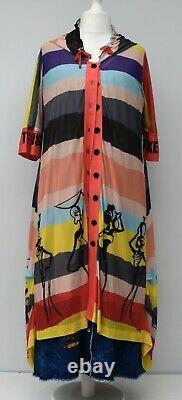 Plus Size Double Layered Hooded Jacket-dress Adorned With Rhinestones Xl-xxl