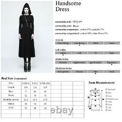 Punk Rave Gothic Hexe Witch Nugoth Kleid Kapuze Steampunk Dress Hood 0pq-199