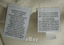 RALPH LAUREN BLACK LABEL Ivory Silk Cashmere Hooded Sweater Dress XS