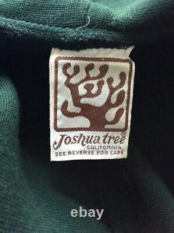 RARE 1970's VINTAGE 70's JOSHUA TREE Hooded Knit FESTIVAL Dress MAXI Coat S