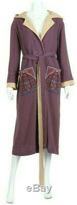 RARE Bill Gibb Mauve Crepe Hooded'Bee' Gown, c. 1976-77 iconic bee design UK10