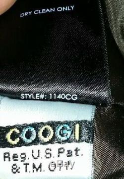 RARE Ladies Coogi Faux Chinchilla Fur & Leather Hooded Bomber Jacket CoatL