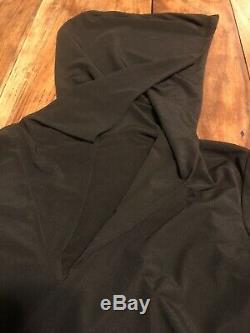 RARE Vintage 1990s Norma Kamali 18008 Black Hooded Mini Dress Size S