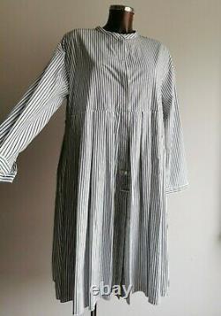RRP 435'S MAX MARA Striped 100% COTTON Dress 12USA 14UK 42D 46IT 44FR