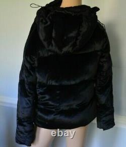 Ralph Lauren Collection Purple Label Black Dress Puffer Silk 2011 Runway Coat 8