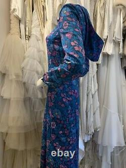Rare Tony Armstrong Vintage 1960s Maxi Dress With Hood