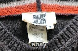 Rare Vtg Gaultier 2 by Jean Paul Gaultier Hooded Brown Orange Knit Dress S Fuzzi