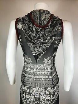 Rare Vtg Jean Paul Gaultier Black Hooded Mesh Dress S