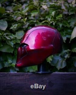 Red Hood Helmet Cosplay wearable Comic Con Prop anti-hero dress up fancy dress