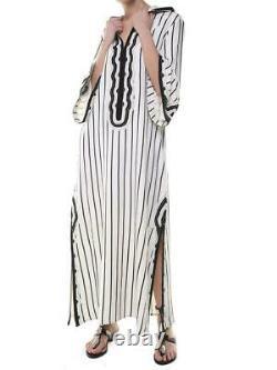 Runway! Tory Burch Savonna Hooded Long Maxi Kaftan Cover UP NWOT XS Retail- $548