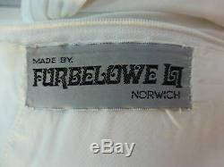 SALE Vintage 60/70s Wedding Dress UK8/10 Winter Widows Hood Cape Elven Fairytale
