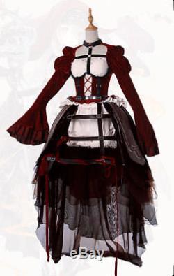 SINoAlice Red Riding Hood Gothic Punk lolita dress kleid Cosplay Costume Kostüme