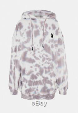 SOLD Playboy x Missguided Grey White Tie Dye Hoodie Dress Size UK 4 DRAFT