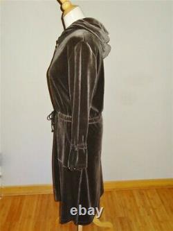 SONIA RYKIEL PARIS Brown Velour Coat / Dress withDetachable Hood NEVER WORN
