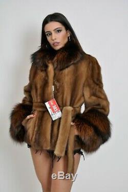 Saga Mink Fur Trench Coat Hood Clas Of Sable Chinchilla Long Jacket Vest Fox