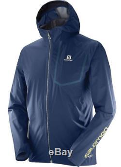 Salomon Men's Bonatti Pro WP Running Jacket Dress Blue