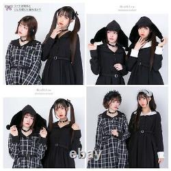 Sanrio Kuromi One-piece DressYumetenbo DearMylove kawaii gothic lolita larme