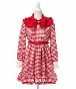 Sanrio My Melody Dear My Love x Yumetenbo Dress Short Hooded Rabbit ear Red