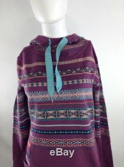 Smartwool Women Alpine Lodge Pattern Dress Sangria Medium 19279-B49 MSRP $150.00