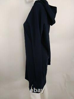 Smartwool Women Everyday Exploration Merino Hooded Dress Navy Medium 11514-092