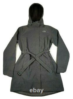 The North Face Anorak Over Coat Belted Windproof Parka sz L Dress Hooded Jacket