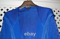 Tom Ford runway cobalt hooded silk dress IT40, US 3, Fr 36