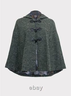 Torrid Outlander Marbled Hooded Toggle Cape Green 00 #40016