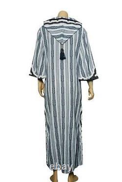 Tory Burch Corbin Hooded Caftan Dress S Women Casual Party Boho Maxi NEW 18346