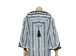 Tory Burch Corbin Hooded Kaftan Dress S 6 Women Casual Party Boho Maxi NEW 19230