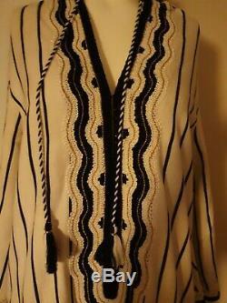 Tory Burch Savonna Caftan Dress S 4 Stripes Runway Hooded