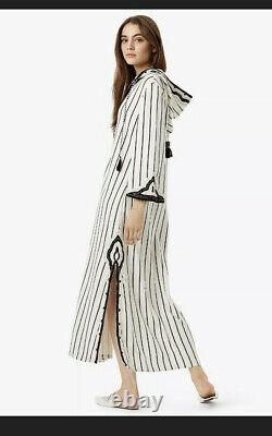 Tory Burch Savonna Hooded Caftan Beach Cover UP XS Tag Included