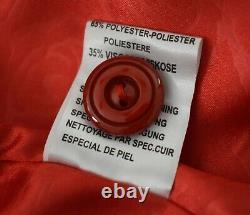 Turkish Kircilar Red Leather Swing Dress Coat European size 3 fits size large