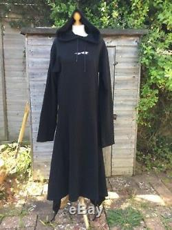 VETEMENTS Black Hooded Convertible Dress Size S