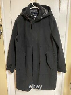 VICTORINOX Mason Wool Dress Coat Jacket Black Xl Hooded